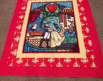 """Belle quilt - 51"""" x 59"""" - Beauty and the Beast quilt"""