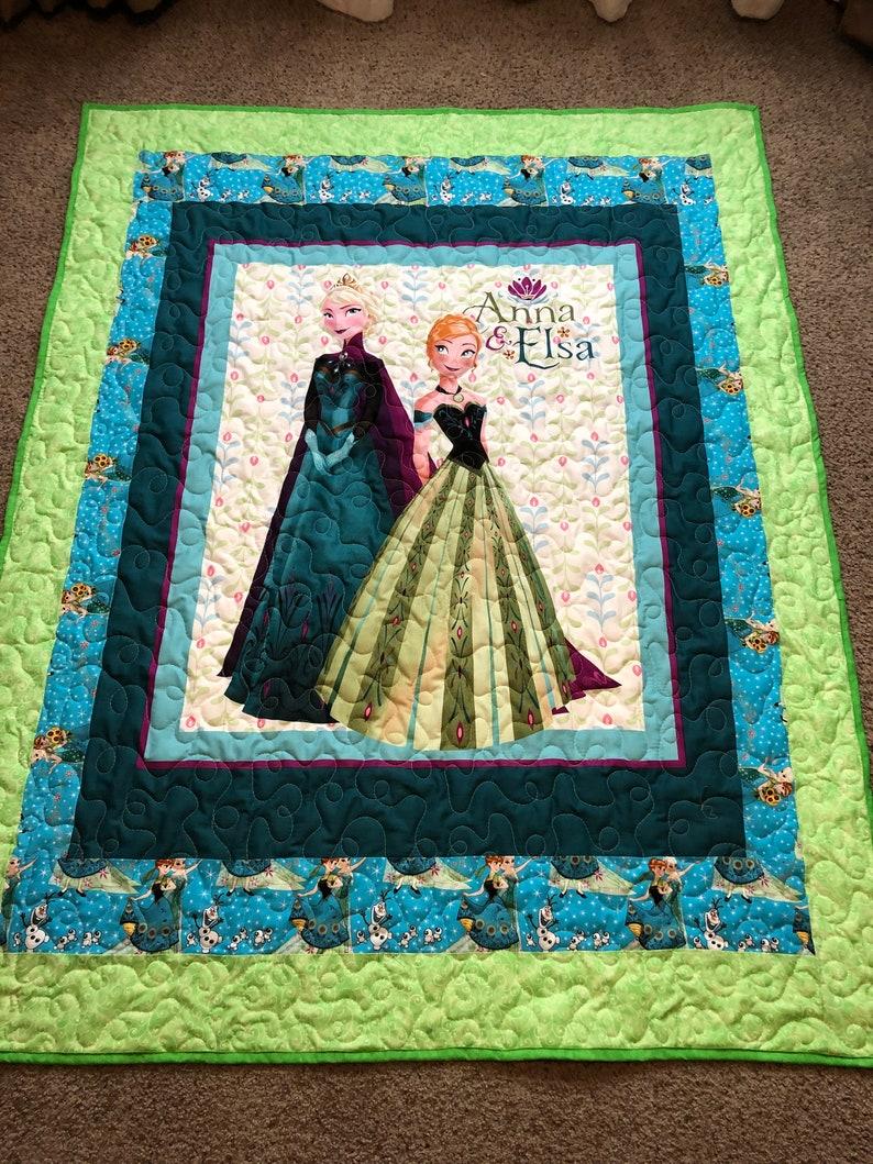 Girls Disney Frozen Theme Comforter Full Set Pretty Faces Sister Anna Elsa