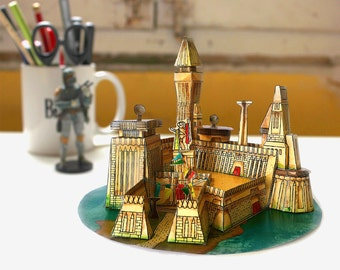 STAR WARS PAPERCRAFT - Maz Kanata castle in Takodana planet - Cut & Assemble Paper Model Kit