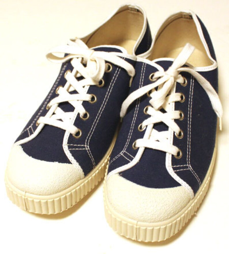 cb5f071afcc14 Deadstock 60's vintage canvas shoes made in Italy