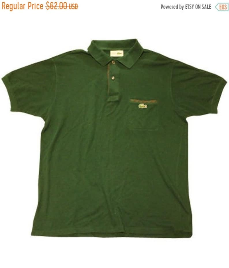 best website b6d43 74699 SUMMER SALE 20/08-30/08 70's vintage Lacoste polo shirts made in France