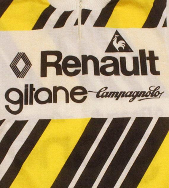 70 ' s vintage LeCoq RENAULT RENAULT LeCoq GITANE CAMPAGNOLO cycle de jersey en France très rare!!! 5f0aa1