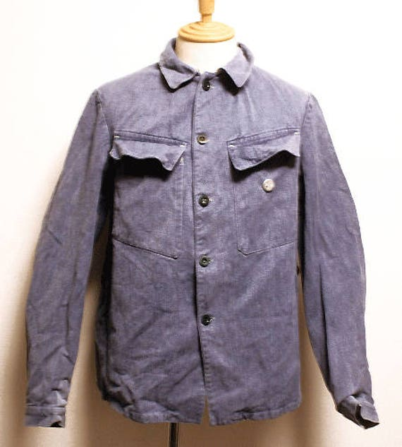 40's RARE Swiss army blue denim jacket