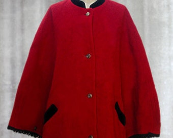 Vintage 70's wool cape made in AUSTRIA
