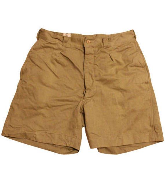 1950   s pantaloncini di tela dell esercito francese  2255b62770ea