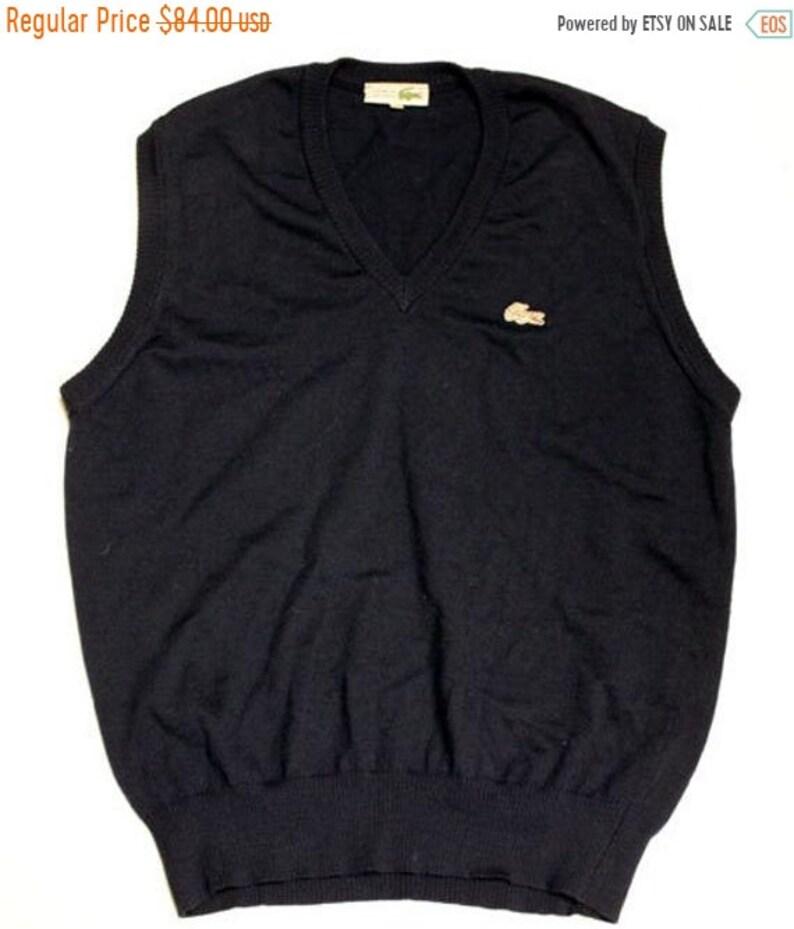 67c2589a SUMMER SALE 20/08-30/08 70's vintage Lacoste vest made in France