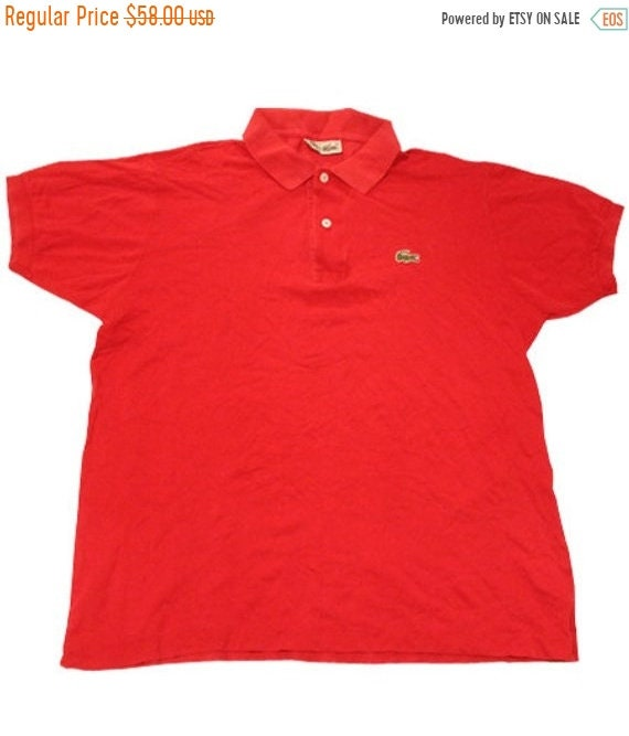 reputable site 0d2dc 132e6 Winter Sale 01/12-10/12 70's vintage Lacoste polo shirts made in France