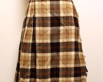 70s vintage Scottish kilt skirt made in scotland