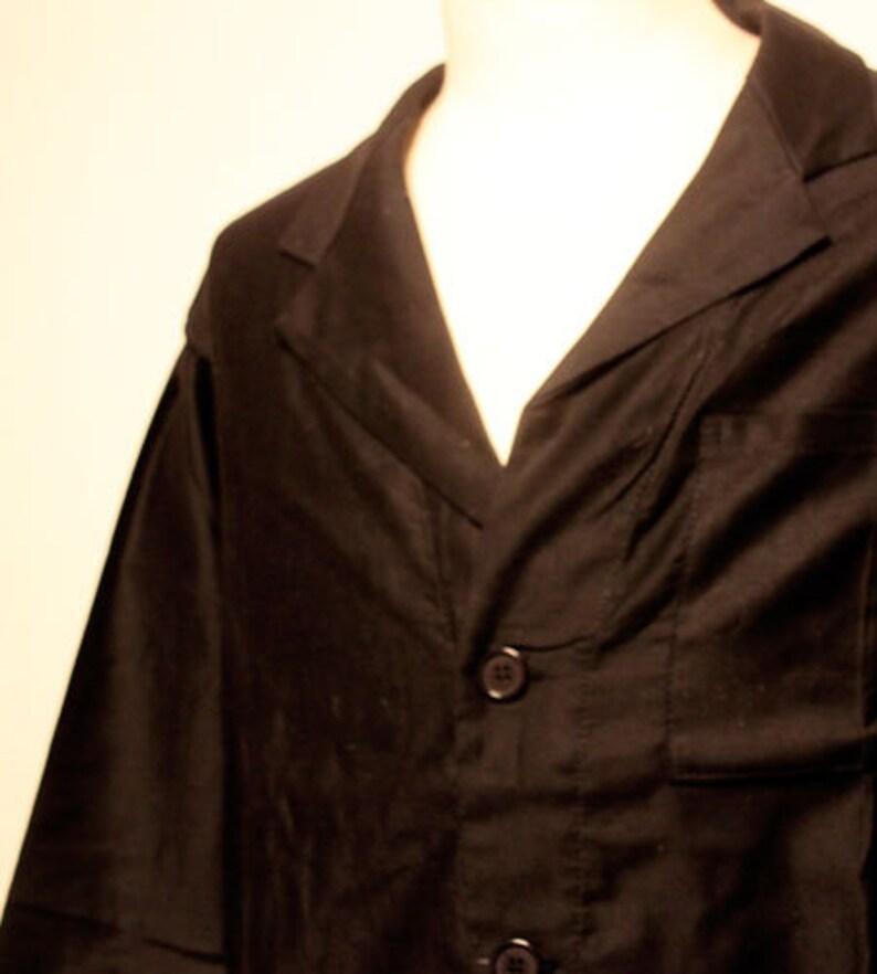 80s deadstock vintage Italian army work coat made in italy long coat shop coat