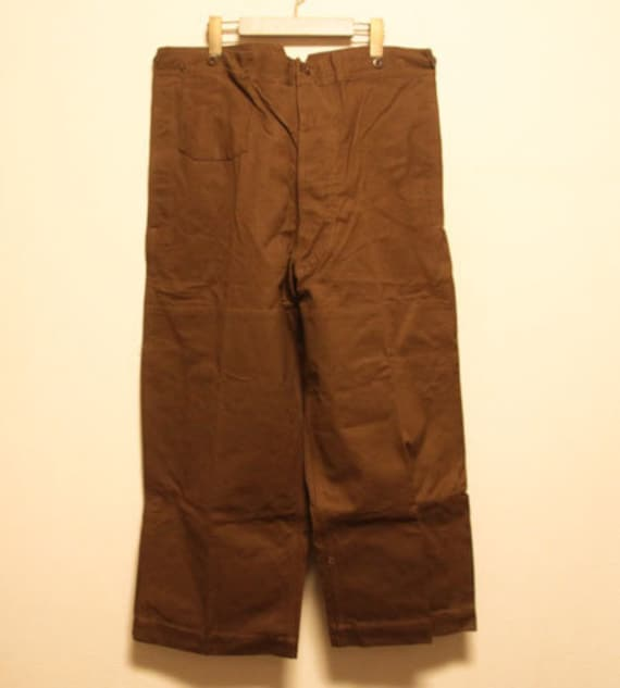 1930's Deadstock French Railway pants made in fran