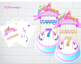 JOJO SIWA Inspired Cake Topper Personalized Jojo Siwa Party Birthday Decoration