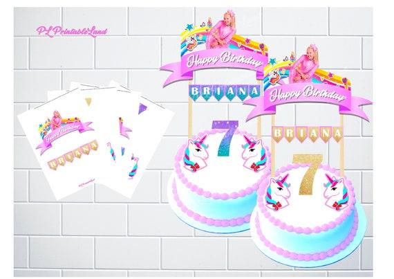 Jojo Siwa Inspired Cake Topper Personalized Cake Topper Jojo Etsy