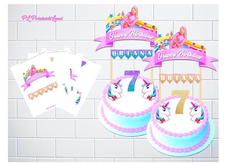 JOJO SIWA Inspired Cake Topper Personalized Jojo