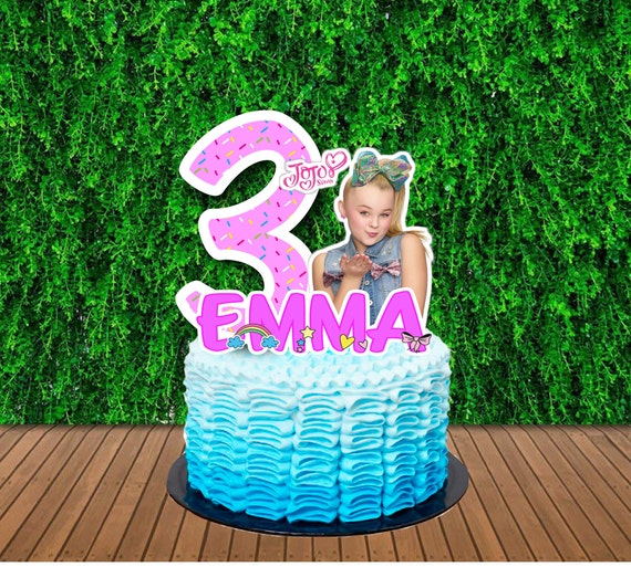 JOJO SIWA Inspired Print Your Own Cake Topper, Personalized Cake Topper, Customise, Jojo Siwa Party Cake, Happy Birthday Party Send by Email