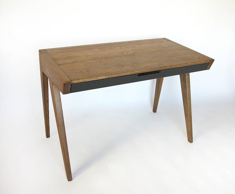 Laptop Schreibtisch Eiche Holz Computertisch Bürotisch Etsy
