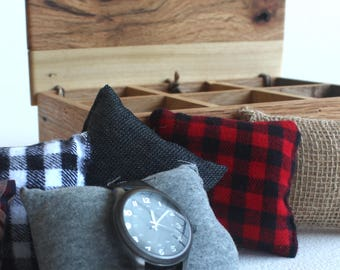 Watch Box  |  Gift for him, watch collector, timepiece storage, gift for mom, gift for dad, Rustic Chic,