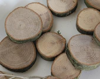 Bag of wood slices /  oak cookie / cut offs / sections / cross cut