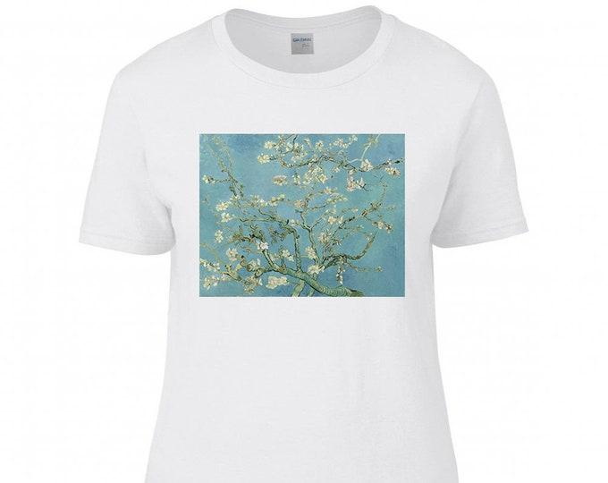 Van Gogh Almond Blossom Fine Art Womens T-Shirt