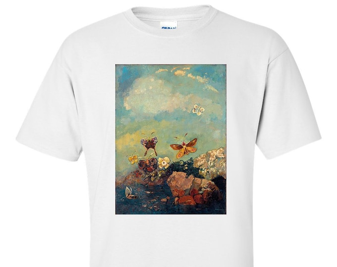 Odilon Redon Butterflies Fine Art Mens T-Shirt