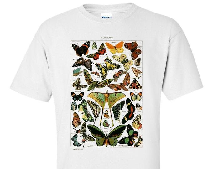 Buterflies Papillons By Adolphe Millot Fine Art Mens T-Shirt