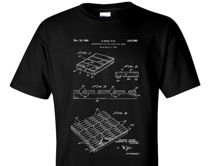 Photovoltaic and Solar Cell Patent Blueprint renewable energy T-Shirt
