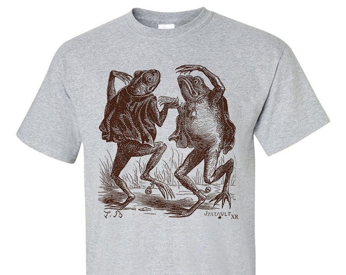 Dancing Toad Demons Frog Drawing Fine Art T-Shirt