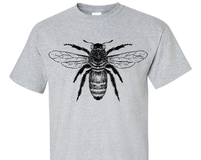 Bee Drawing T Shirt, Bee Keeper, Honey Bee, Honeycomb, Organic Honey, T-Shirt