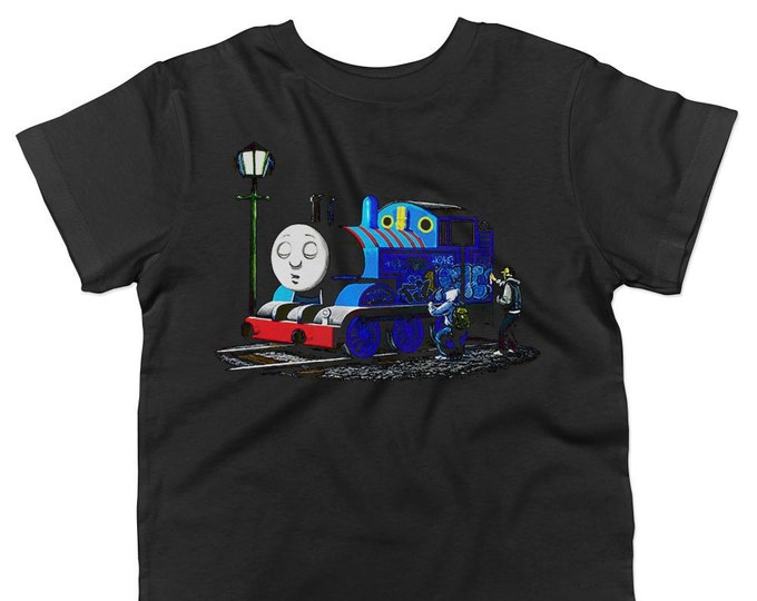 Banksy Thomas The Tank Engine Graffiti Kids T-Shirt