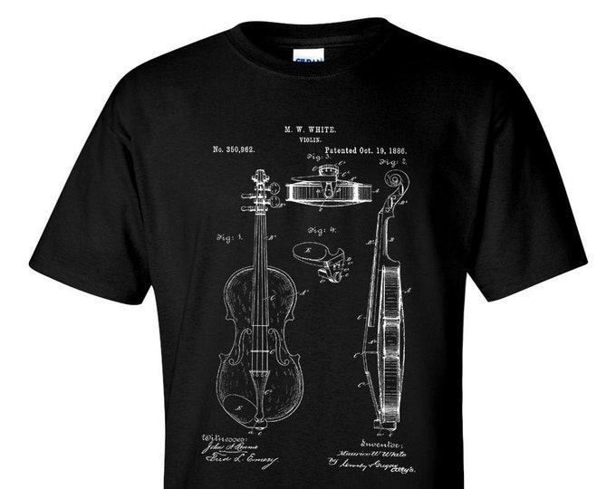 Violin Patent Mens T-Shirt