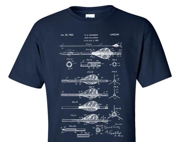 Archery Arrow Patent Blueprint Archer Gift T-Shirt