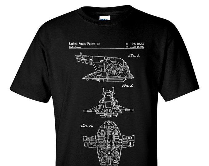 Star Wars Slave 1 Patent Blueprint T-Shirt
