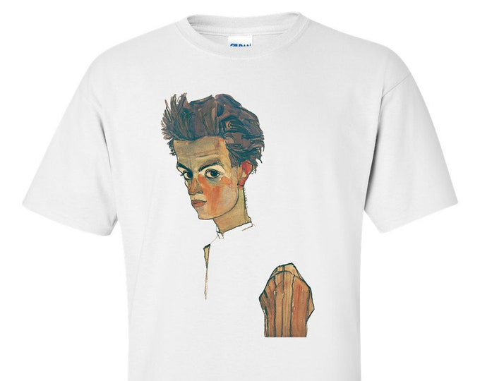 Self Portrait By Egon Schiele Fine Art Mens T-Shirt