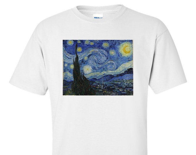 Van Gogh Starry Night Fine Art Mens T-Shirt