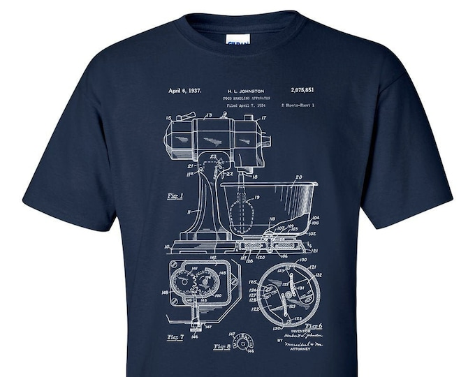 Kitchen Mixer Aid Patent Chef Cook Baker T-Shirt