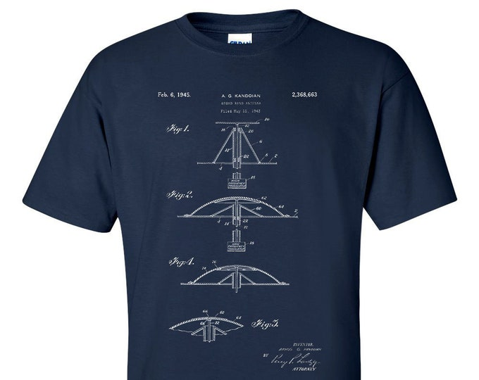 Broadband Antenna Patent Mens T-Shirt