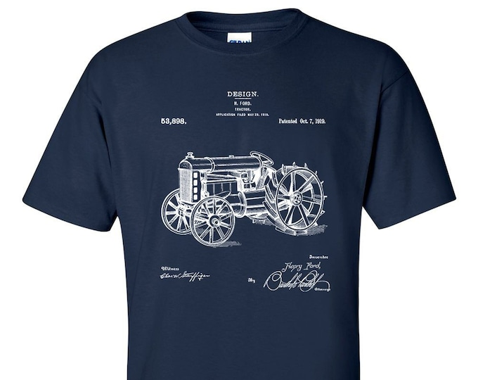 H Ford Tractor Patent Blueprint Farmer T-Shirt