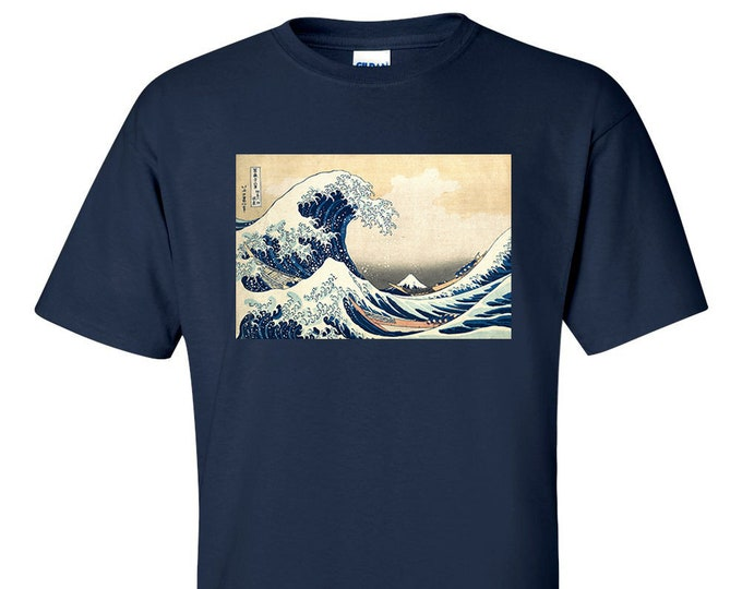 Katsushika Hokusai The Great Wave off Kanagawa Fine Art Mens T-Shirt