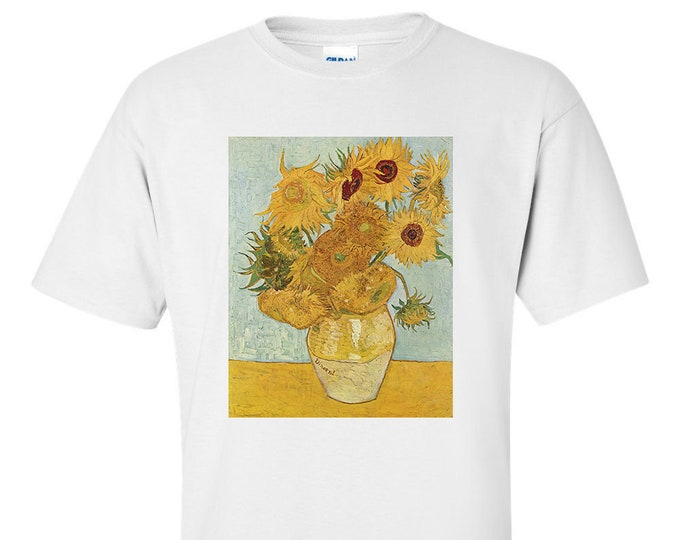 Van Gogh Sunflowers Third Version Fine Art Mens T-Shirt