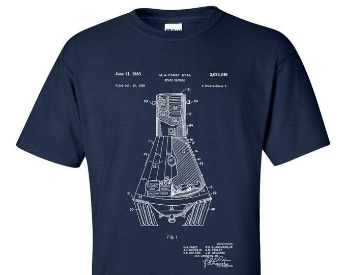 NASA Space Capsule 1959 Patent T-Shirt