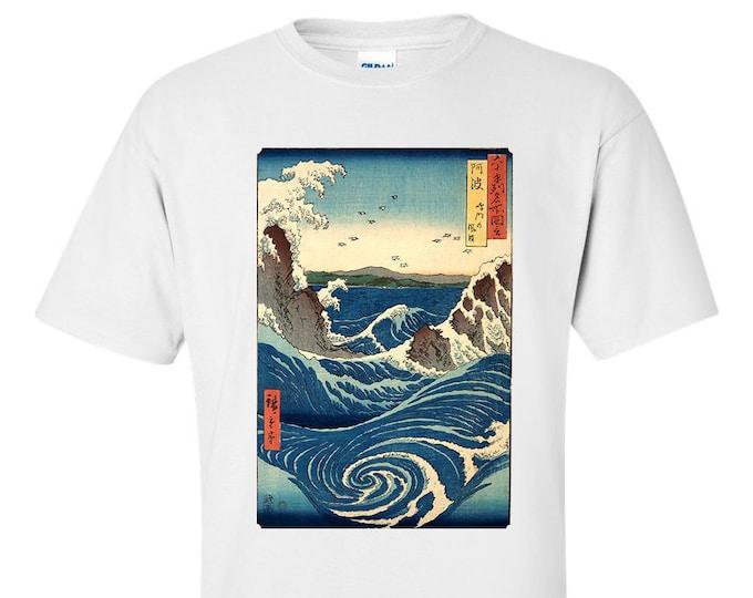 Utagawa Hiroshige Naruto Whirlpool Fine Art T-Shirt