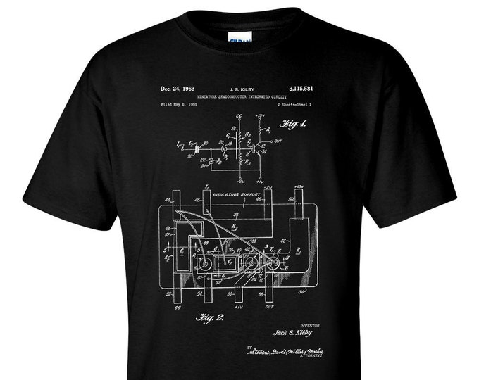 First Integrated Circuit Patent Electrical Engineer T Shirt