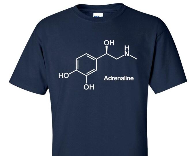 Adrenaline Molecule 2d Formula T-Shirt