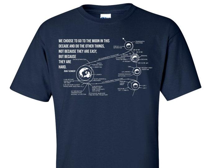 John F Kennedy Moon Speech NASA Apollo 11 Mission Plan T-Shirt