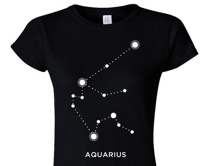 Aquarius Zodiac Sign Star Constellation Womans T-Shirt
