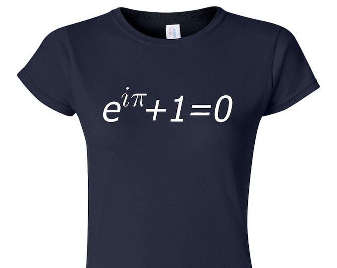 Euler's Identity Equation Womans Math T-Shirt