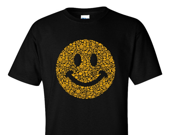 Not Just Nerds Smiley elements icons Acid house rave T-Shirt