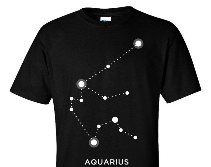 Aquarius Zodiac Sign Star Constellation Astrology T-Shirt