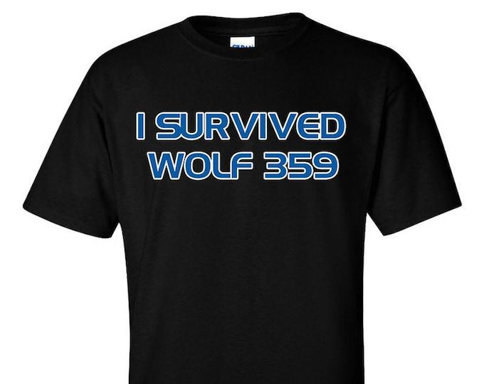 Not Just Nerds Star Trek TNG I Survived Wolf 359 T-Shirt