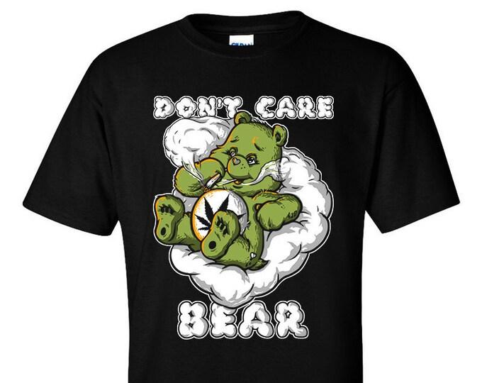 Don't care Bear Weed Skunk Stoner T-Shirt