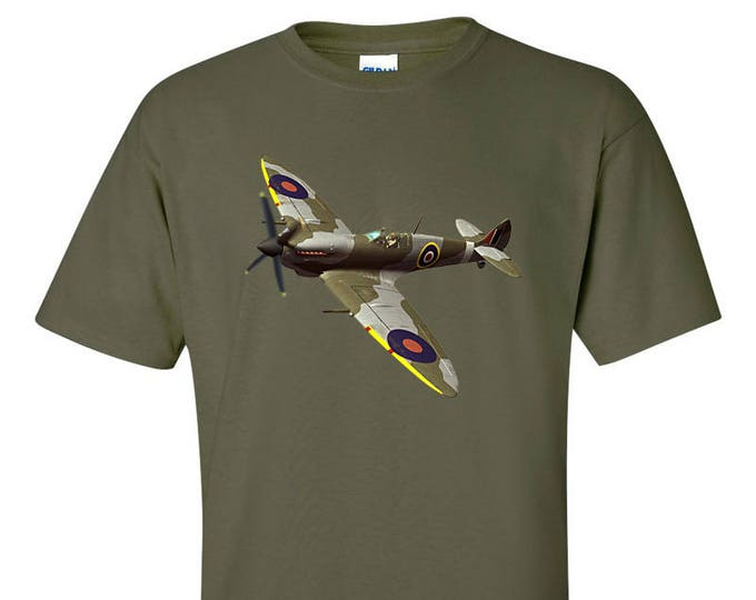 Supermarine Spitfire Fighter Aircraft WW2 RAF T-Shirt
